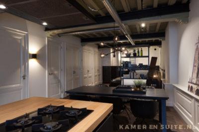 Klassieke keuken met houten aanrechtblad